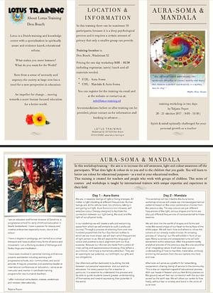 flyer link training Aura-soma and mandala