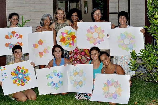 group picture workshop mandala
