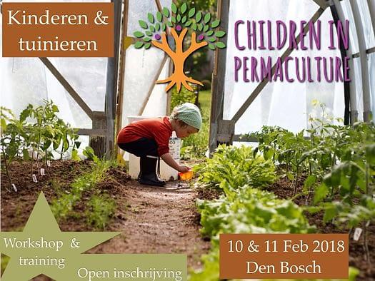 children in permaculture flyer