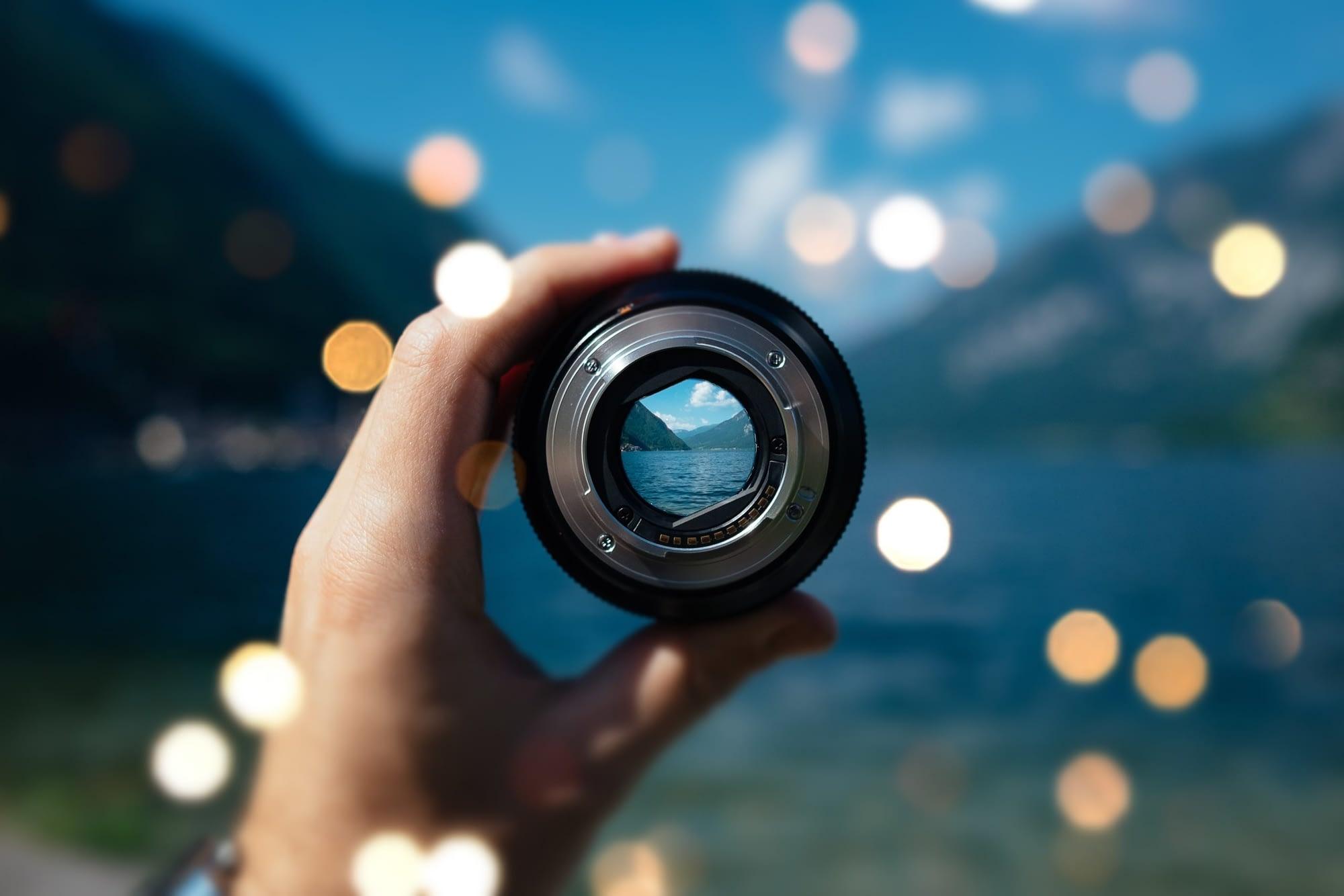 lens focus landscape bokeh effect