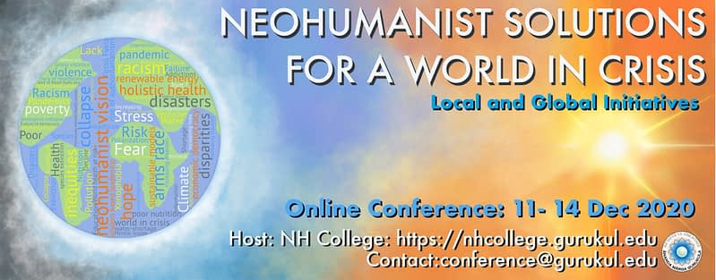 banner Neohumanist solutions for a world in crisis