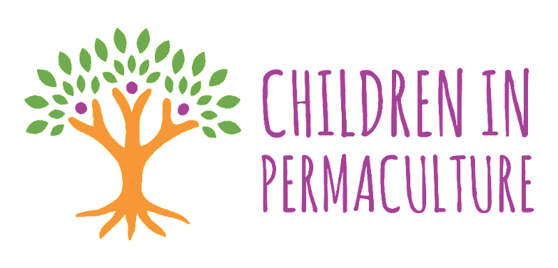 children in permaculture logo tree